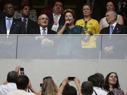 Dilma Rousseff foi vítima de vaias na abertura da Copa das Confederações, no Estádio Mané Garrincha, em Brasília Foto: Ricardo Matsukawa / Terra