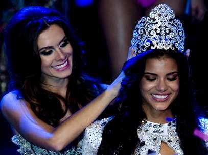 Representante do Mato Grosso, Jakelyne Oliveira, 20 anos, foi eleita Miss Brasil 2013 na noite desse sábado (28), no Minas Centro, em Belo Horizonte (MG) Foto: Bruno Santos / Terra