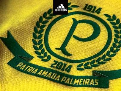 Camisa do Palmeiras tem referência à Seleção Brasileira Foto: Divulgação