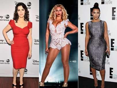 Nigella Lawson, Beyonce e Kim Kardashian foram apontadas como personalidades com corpos bonitos Foto: Getty Images