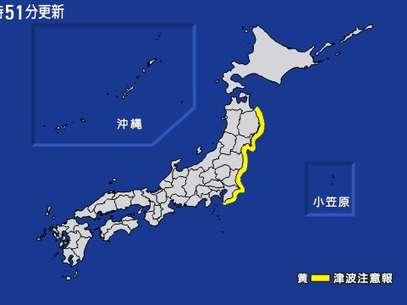 Forte terremoto atinge o Japão e gera pequeno tsunami na costa nordeste