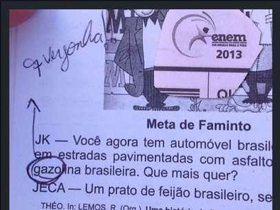"""Polêmica: Prova do ENEM 2013 tem gasolina com """"z"""". MEC diz que está está dentro de contexto histórico. Saiba porquê:"""
