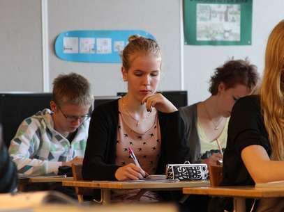 Praticamente todos os jovens finlandeses estudam em escola pública Foto: Amanda Soila/UM / Divulgação
