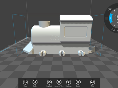 Usuário pode fazer ajustes no objeto a ser impresso Foto: Divulgação