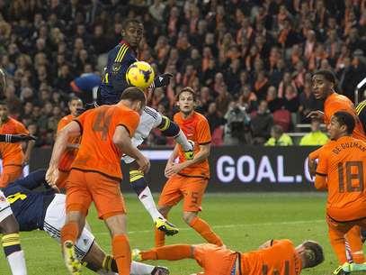 Colômbia jogou com um homem a mais durante mais de uma hora Foto: Reuters