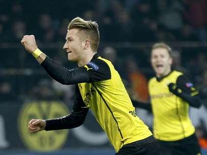 O Borussia Dortmundfez duelo emocionante contra o Napoli, mas triunfou por 3 a 1 Foto: Reuters