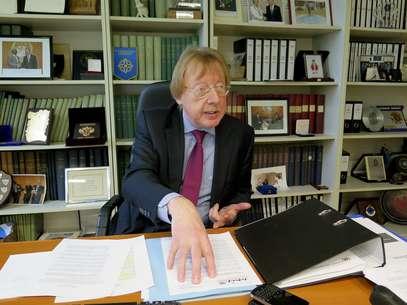 Raymond Yans, representante da ONU para o cumprimento de leis sobre drogas concede entrevista à EFE Foto: EFE