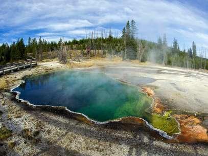 Erupção de vulcão como o Yellowstone pode ter efeitos devastadores Foto: AFP
