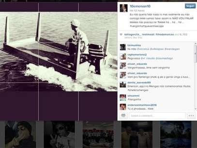 Atacante Emerson ironiza novamente o time do Fluminense, após equipe conseguir o retorno à Série A do Brasileiro Foto: Instagram / Reprodução