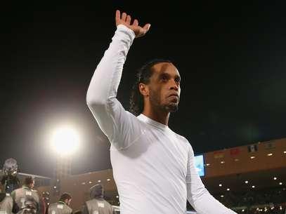 Bom ano vivido pelo Atlético-MG ajudou Ronaldinho a superar Neymar com facilidade em tradicional eleição de jornal uruguaio Foto: Getty Images