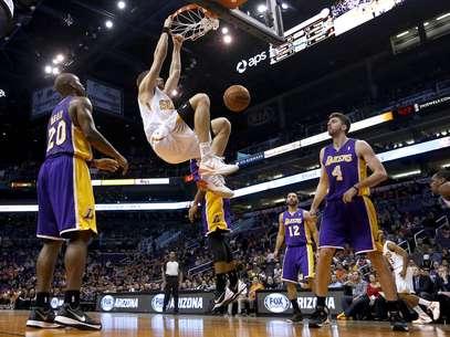 Lakers perderam sete dos últimos dez jogos Foto: AP
