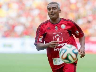 Romário participou de amistoso tradicional de Zico no Maracanã neste sábado Foto: Mauro Pimentel / Terra