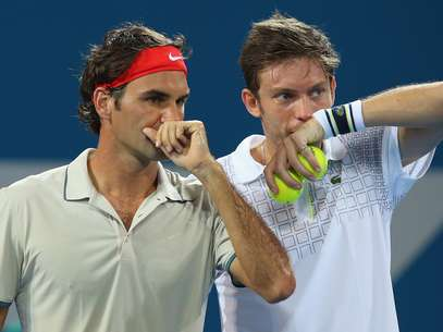 Federer e Mahut largaram de maneira positiva em Brisbane Foto: Getty Images