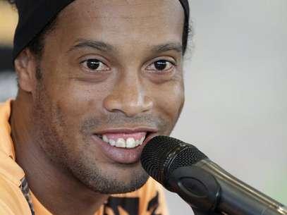 Ronaldinho já assinou contrato com o Atlético-MG Foto: Andres Stapff / Reuters