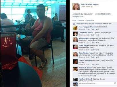 Foto foi postada no perfil da professora no Facebook, mas ganhou repercussão ao ser reproduzido pela página 'Dilma Bolada' Foto: Reprodução