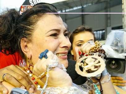 Mocidade festeja título de campeã do Carnaval 2014 em São Paulo Foto: Marcos Bezerra / Futura Press