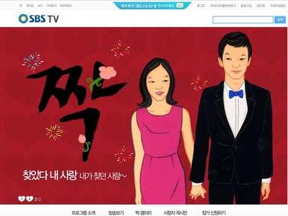 Página oficial do peality show Jjack (O Casal), da tv SBS, da Coreia do Sul Foto: http://tv.sbs.co.kr/jjak/ / Reprodução