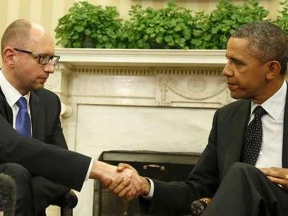 Obama recebe premiê ucraniano e garante apoiar a integridade territorial da Ucrânia