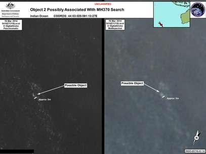 Autoridades insistiram que as imagens captadas pelos satélites nem sempre têm relação com o que se procura Foto: Reuters