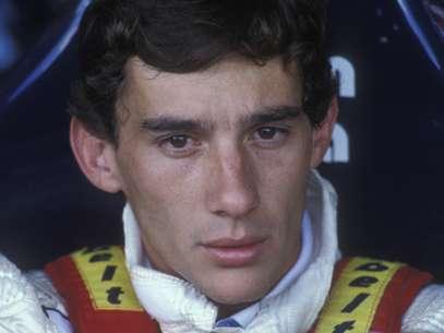 Estreia de Ayrton Senna acabou durou poucas voltas; brasileiro abandonou com problema no turbo Foto: Getty Images