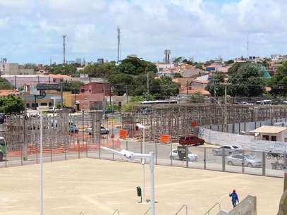 Viaduto incompleto: responsabilidade do município Foto: Rodrigo Trindade / Terra
