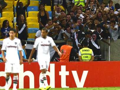 Vasco comemora gol de empate no duelo de ida da semi Foto: Daniel Ramalho / Terra
