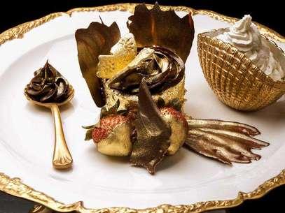 A maioria dos dos pratos mais caros do mundo leva ouro em sua composição Foto: Reprodução