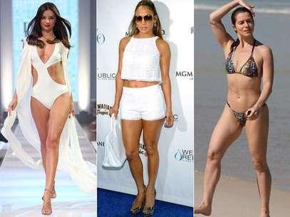 As celebridades se dedicam antes, durante e depois da gravidez a manter a boa forma Foto: Getty Images / AgNews