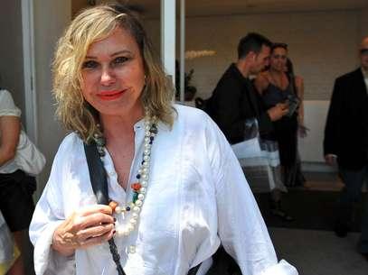 A atriz esteve em São Paulo especialmente para acompanhar o desfile de Gloria Coelho Foto: Edson Lopes Jr. / Terra