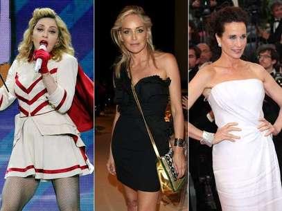 Maddona, Sharon Stone e Andie MacDowell são mulheres desejadas com mais de 50 anos Foto: Getty Images