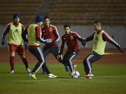 Jogadores do Al Ahly iniciaram nesta segunda-feira os treinos em solo japonês Foto: Ricardo Matsukawa / Terra