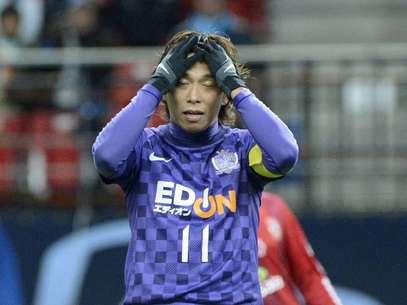 Hisato Sato perdeu grande chance no fim e viu o Sanfrecce Hiroshima ser eliminado Foto: Ricardo Matsukawa / Terra