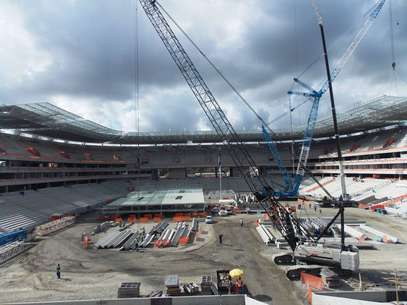 Expectativa é que 2012 termine com Arena Pernambuco 85% concluída Foto: Eduardo Amorim / Brisa Comunicação e Arte - Especial para o Terra
