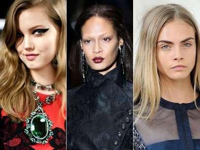 Muitas tendências de maquiagem apresentadas nas passarelas de 2012 pegaram nas ruas Foto: Divulgação/Getty Images