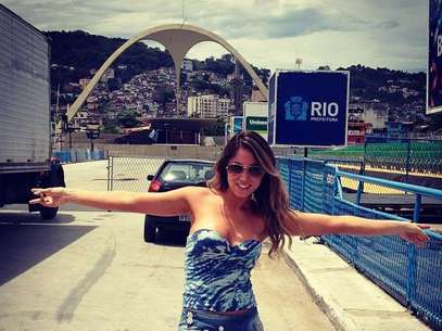 A dançarina será destaque naBeija-Flor de Nilópolis Foto: Reprodução/Instagram