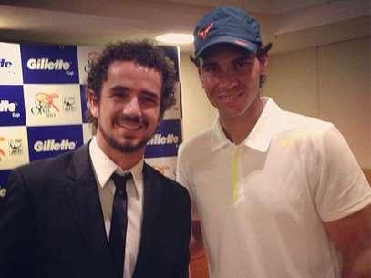 Felipe Andreoli publicou foto ao lado de Rafael Nadal Foto: Instagram / Reprodução