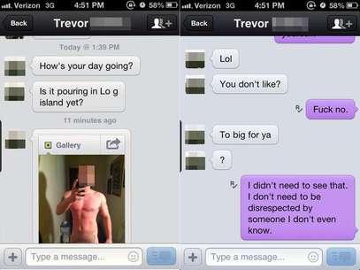 Conversa entre Trevor e a mulher mostra como o jovem se divertia com a situação Foto: Reprodução
