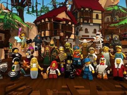 'Lego Minifigures Online' é baseado nos bonecos reais, que ao comprá-los vêm com código de download para obtê-los no jogo  Foto: Divulgação