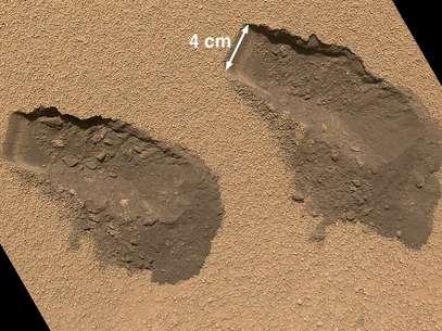 Curiosity recolheu amostras do solo de Marte Foto: Nasa / Divulgação