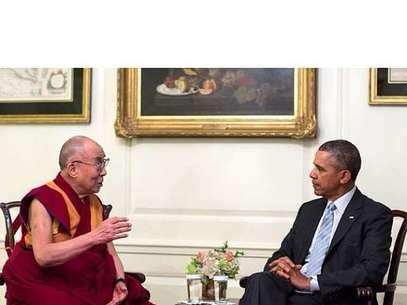 Presidente Barack Obama e Dalai Lama em conversa na Casa Branca Foto: Instagram / Reprodução