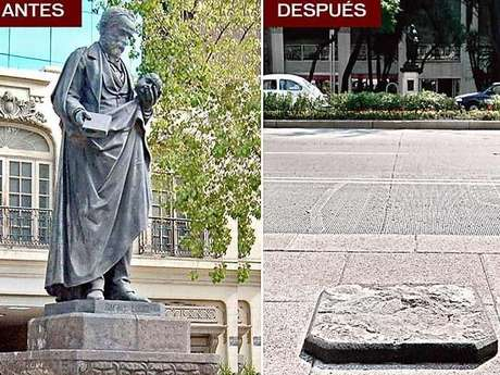 La estatua del doctor Rafael Lucio, develada en 1889, desapareció de Paseo de la