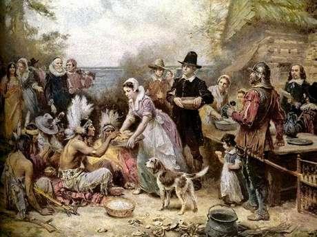 El primer Acción de Gracias congregó dos pueblos distintos unidos por el agradecimiento a la tierra.