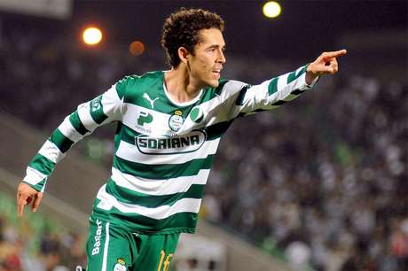 Hérculez Gómez, delantero estadounidense de Santos Laguna.