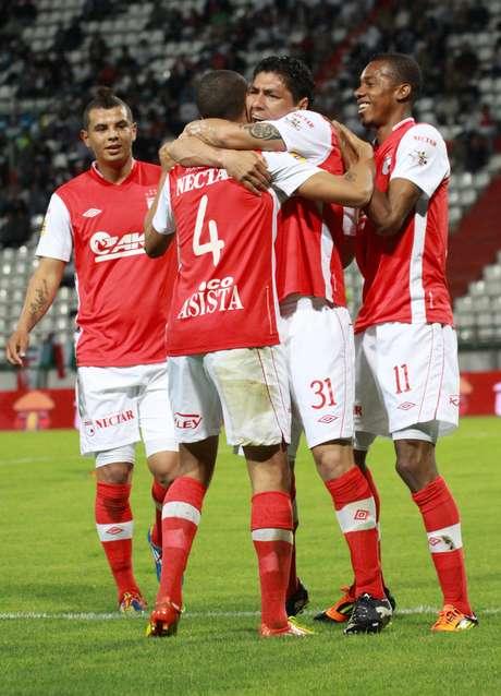 Independiente Santa Fe en su último partido empató con Once Caldas a dos goles en Manizales.
