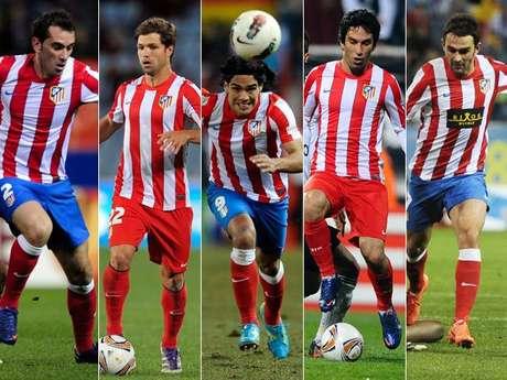 Diego Godín, Diego, Falcao, Arda Turan y Adrián son los cinco irreverentes del Atlético de Madrid que buscarán darle otra Europa League al equipo español