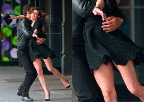 Milla Jovovich sufrió un descuido durante la grabación de un anuncio que dejó su trasero al aire.