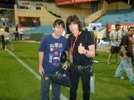 Leo Messi posó para Marky Ramone