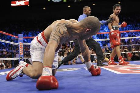 Manny Pacquiao's last knockout came against Miguel Cotto in 2009 when he won the WBO Welterweight title as Miguel Cotto as the referees cut the fight short in the twelfth round to give Pacquiao the technical knockout.