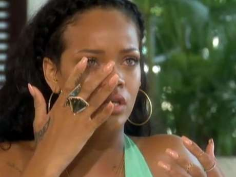Rihanna en la entrevista con Oprah