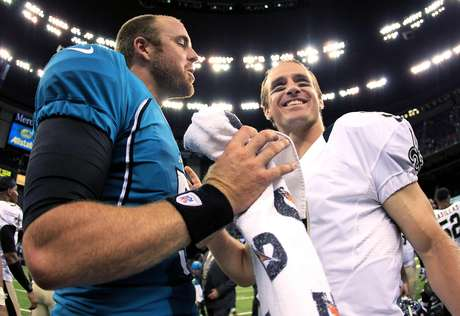 Gabbert outperformed Saints star Drew Brees, and the young Jaguars quarterback found rookie Justin Blackmon for a score as Jacksonville took a 27-24 preseason victory over New Orleans on Friday night.